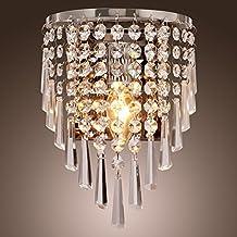 Glighone Apliques de Pared Lámpara Cristal LED 40W Lámpara de Pared Casquillo E14 Luz Moderna para Decoración del hogar Sala de Estar No Incluye Bombilla