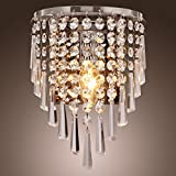 Europäischer Stil Moderne Einfachheit Kristall rostfreier Stahl LED E14 Wandlampe 40w