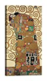 DìMò ART Rahmen Druck auf Leinwand mit Rahmen in Holz Gustav Klimt The Tree of Life III Größe 80x40 CM