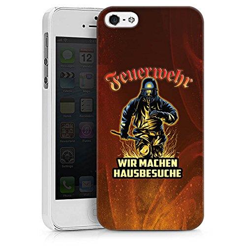 Apple iPhone SE Stand Up Hülle Case Cover mit Standfunktion Feuerwehrmann Spruch Feuerwehr Hard Case weiß