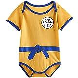 Vêtement Bébé Super Hero DBZ | Body Pyjama enfant | Déguisement Goku | Costume original et rigolo | 100% Coton (12-18 mois)