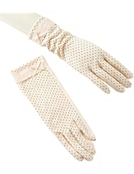 señoras UV guantes de protección solar completa palma de la pantalla táctil de algodón guantes de conducir