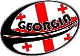 Aufkleber Wandaufkleber sport Fußball, rugby Flagge Welt Schnitt georgie georgien