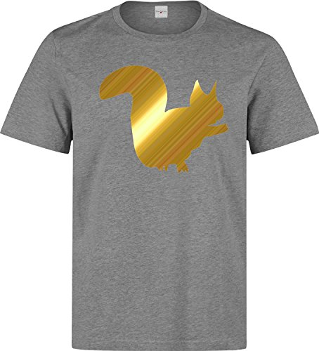 Squirrel silhouette minimal art Herren baumwolle t-shirt Grau