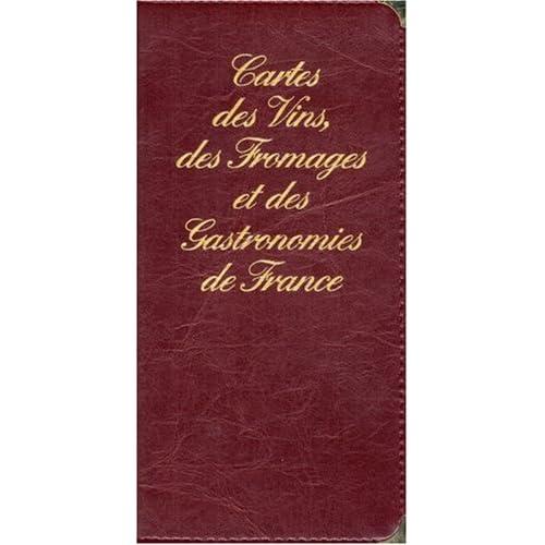 Carte routière : Vins, fromages et gastronomies de France (portefeuille skaï)