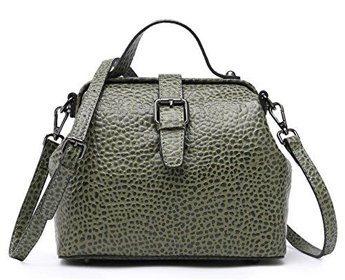 XinMaoYuan Freizeitaktivitäten Kreuz Medium Knödel der Tasche Damen Handtasche mit einer einzigen Schultertasche Grün