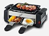 Inditradition Compact & Portable Electric Smokeless Barbecue Grill, Tandoor & Toaster, with Frying and Roasting Function, Silver