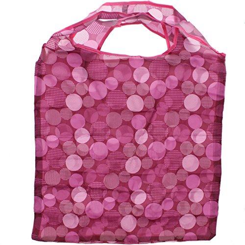 Shopping Bag Zac S Alter Ego® In / Washstand Borsa A Tracolla Staccabile Color Rosa Scuro Con Motivo A Pois