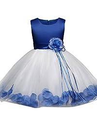 GUOCU Abito Bambina Principessa Vestito da Cerimonia per Damigella con  Bowknot Floreale Abiti per Matrimonio Carnevale Natale… 40d569b44ff