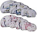 #4: UberLyfe Multicolor Multipurpose Pouch for Women - Combo of 10 (PU-001025-26-COMBO)