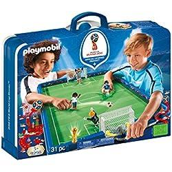 Playmobil-2018 FIFA World Cup Russia Campo de Fútbol Maletín, única (9298)