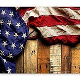 murando - Fototapete Fahne America 300x210 cm - Vlies Tapete