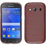 PhoneNatic Custodia Compatibile con Samsung Galaxy Ace 4 Cover Rosa Brushed Galaxy Ace 4 in Silicone + Pellicola Protettiva