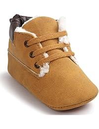 OverDose Unisex-Baby weiche warme Sohle Leder / Baumwolle Schuhe Infant Jungen-Mädchen-Kleinkind Schuhe 0-6 Monate 6-12 Monate 12-18 Monate