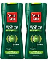 Pétrole Hahn - Shampooing Force L'Original Vert - Fortifiant/ Usage Fréquent - 250 ml - Lot de 2
