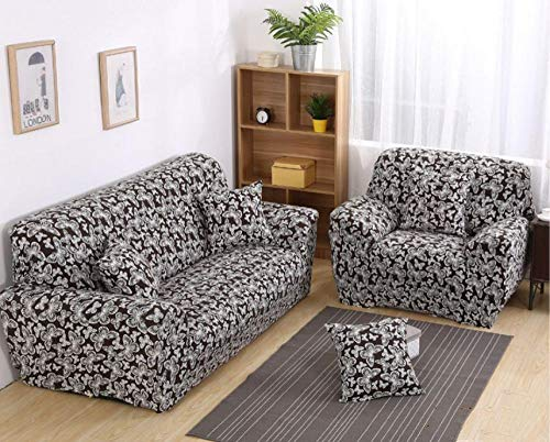 ZZZXX Sofabezug Abdeckung Sofa-Überwürfe Stretch-Stoff Blume Vogel Muster Elastischen Stuhl Loveseat Couch Sofa 1-Teiliger Hundeschutz, Schwarz Weißer Schmetterling -