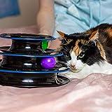 Unglaubliches Katzen Rollen-Spielzeug - Katzenspielzeug viel Spaß auf 3 Ebenen - Interaktives Katzenspielzeug zum Spielen und Lernen für Katzen - das beste Kätzchen Spielzeug - 4