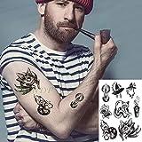 Étanche Autocollant de Tatouage Lune tête Effrayant crâne fantôme Tatto Tatoo Tattoo pour Les Femmes Fille Temporary Hommes