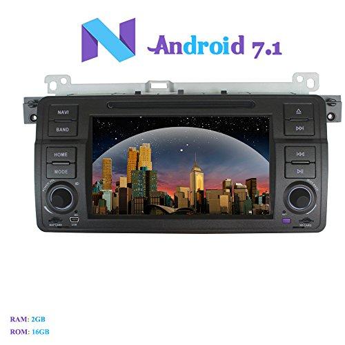 Android 7.1 Autoradio, Hi-azul 1 Din Radio de Coche In-Dash Navegación GPS...