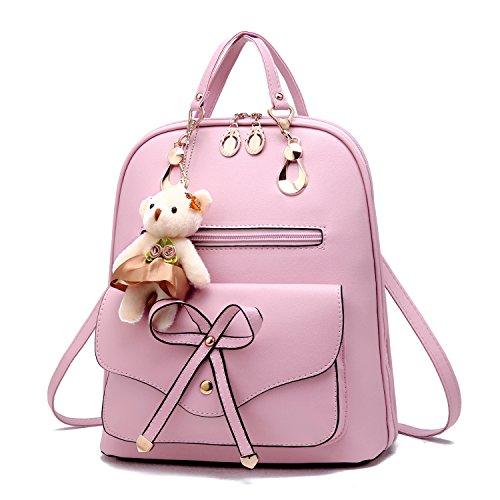 Barwell Damen Rucksack Schulter Ausflug Rucksäcke PU Leder Schultasche mit für Damen Freizeitrucksack