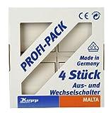 Kopp 622605083 Malta Profi-Pack: 4 Universalschalter (Aus- und Wechsel), creme-weiß