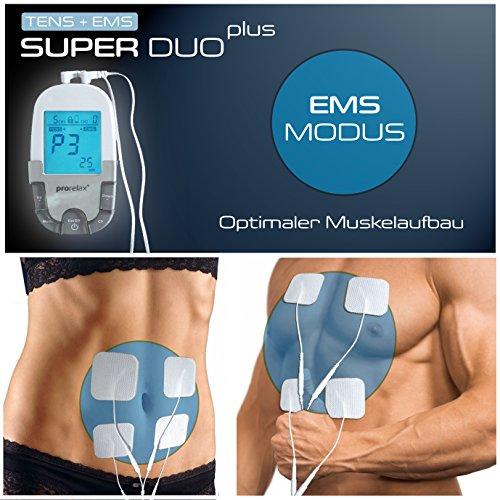 prorelax Tens/Ems SuperDuo Plus. Elektrostimulationsgerät mit besonders umfangreichem Zubehörset - 8