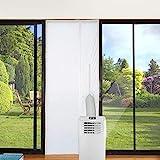Jajadeal 210x90cm Universale Guarnizione per Porta Finestra per Condizionatore Portatile, per Climatizzatore Portatile e Asciugatrice - Chiusura Automatica Dopo l'apertura, Facile da Installare
