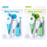 MyLifeUNIT White Out Tape Pen, 20 Feet Refillable Correction Tape Wide, Mixed Colors (2 Pack)