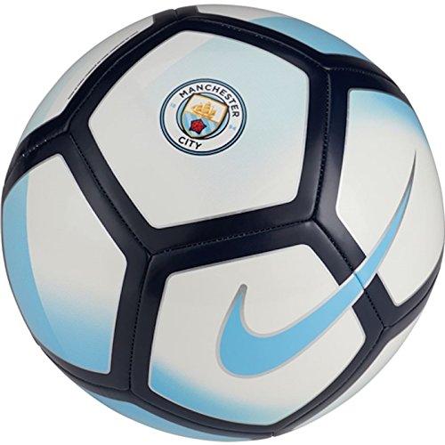 Nike Unisex Manchester City Pitch Campo De balón de fútbol, Color Blanco/Azul/de la Medianoche Azul Marino/(Campo BL, 5