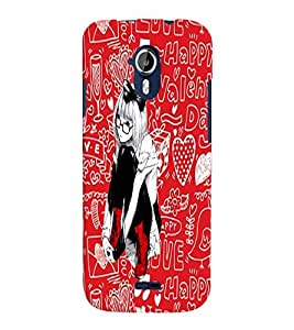 Fuson Love Pattern Girl Back Case Cover for MICROMAX A117 CANVAS MAGNUS - D3885