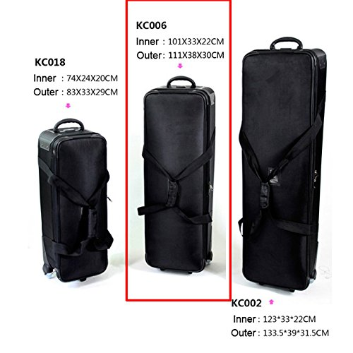 HWAMART ® KC006 Tasche Pad-Videokamera -Tasche Stativ-Tragetasche Hohe Qualität tragen und Schwungräder Fall Flightcase Schützen