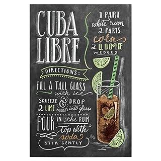 artboxONE Poster 30x20 cm Typografie Cuba Libre hochwertiger Design Kunstdruck - Bild Typografie von Lily & Val