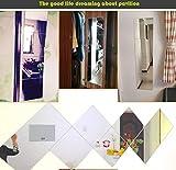 Spiegel Wandspiegel GanzköRperspiegel Garderobenspiegel Rahmenlos Schlafzimmer Schlafsaal Spiegel 22-40cm,M