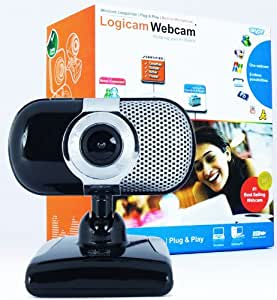 Logicam Webcam, Awarded Top 10 by Customers Like YOU - 3.0 Mega Pixels, Excellent Video quality, Built-in Microphone, Plug & Play webcam, No driver or Installation needed, Windows Compatible
