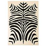 Zora Walter Moderner Teppich mit Zebramuster Beige/Schwarz 160 x 230 cm Dekoration Teppich Material: Polyester