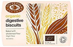 Doves Farm Organic Wholewheat Digestive Biscuits 200 g (Pack of 12)