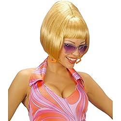 NET TOYS Perruque blonde années 60 années 70 coupe au carré femme perruque pour dame perruque cheveux courts cheveux courts Mardi gras Carnaval blond