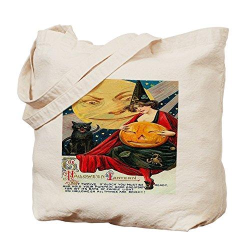 CafePress Tote Bag - Vintage Halloween Witch Black Cat Moon Pu Tote Bag by CafePress (Vorhänge Rebecca)