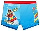 Feuerwehrmann Sam Badehose Jungen Badeshorts (Blau, 110)