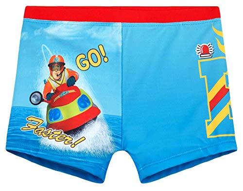 Feuerwehrmann Sam Badehose Jungen Badeshorts (Blau, 98) - Jungen Sport-pyjama