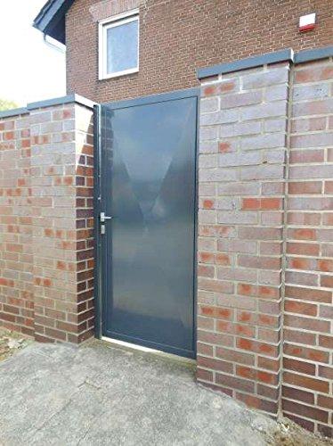 Pforte Tür Eingangstor Gartentor Hoftor Grau Beschichtet 105cm x180cm Sandbach