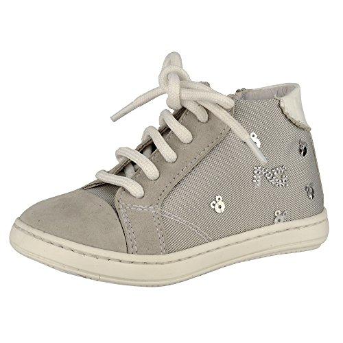 Nero Giardini Junior, Chaussures Premiers Pas pour bébé (Fille) - Gris - Camoscio Vapore, 19 EU
