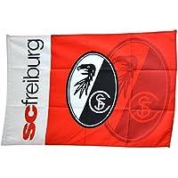Flagge mit Hohlsaum SC Freiburg - 100 x 150 cm, + gratis Aufkleber, Flaggenfritze®