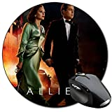 Allied Brad Pitt Marion Cotillard Tapis De Souris Ronde Round Mousepad PC
