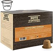 Note d'Espresso Vanilla cappuccino Instant Capsules 6.5g x 100 Capsules Exclusively Compatible with Nespresso* machines