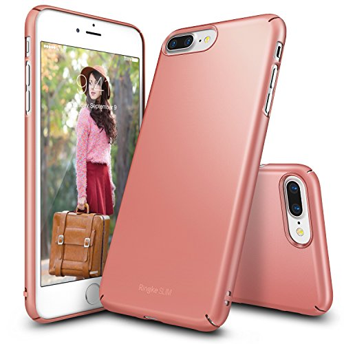 Cover per iPhone 7 Plus in plastica dura Ultra-Sottile (Rose Gold)