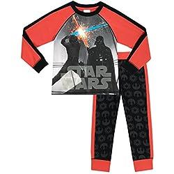 Star Wars - Pijama para Niños - Star Wars - Brillan En La Oscuridad - 8 - 9 Años