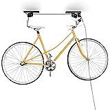 Relaxdays Support vélo rangement vélo plafond Garage Ascenseur VTT Stockage bicyclette, noir