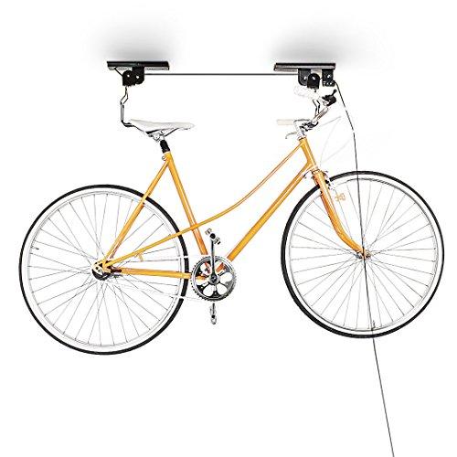 Relaxdays Fahrradlift zur Deckenmontage für max. 20 kg fürs Fahrrad mit Deckenhalter für die Wohnung oder Garage, schwarz