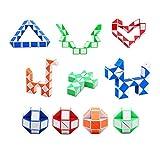 SouthStar Twist Puzzle Toys, Cube de Serpent Magique de 15 Paquets, Mini Cubes de Vitesse du Serpent...
